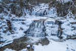 Kent Falls on Kent Falls Brook in Winter, Kent Falls State Park, Kent, CT