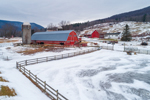 Big Red Barn at Nolan Farm in Winter, Green Mountains Region, Arlington, VT