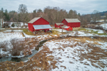 Red Barns and Farmlands in Winter, Hamlet of Shushan, Town of Salem, NY