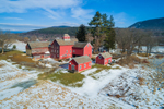 Red Barns and Farmlands in Winter, Wallingford, VT
