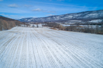 Farm Fields in Winter at Base of Taconic Mountains, Town of North East, NY