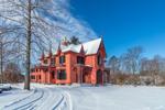 Historic Roseland Cottage in Winter, Built 1846, Woodstock, CT