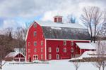 Big Red Barn in Winter, Woodstock, VT