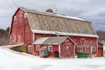 Big Red Barn on Digligle Farm in Winter, Brandon, VT