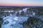 Winter Sunrise over Stump Pond and Quaddick Reservoir, Thompson, CT
