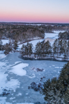 Winter Sunrise over Stump Pond and Quaddick Reservoir, Thompson, CT