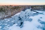 Quaddick Reservoir in Winter, Thompson, CT
