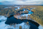 Nashua River and J. Harry Rich State Forest in Winter, National Wild and Scenic River, Pepperell and Groton, MA