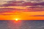 Sunrise over Atlantic Ocean at Cahoon Hollow Beach, Cape Cod National Seashore, Cape Cod, Wellfleet, MA