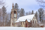 All Saints Church in Winter, Built 1864, Spire in 1872, Hoosick Falls, NY