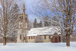 All Saints Church in Winter, Built 1864, Spire in 1872, Hoosick Falls, NY