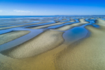Sandbars at Low Tide at Thumpertown Beach on Cape Cod Bay, Cape Cod, Eastham, MA