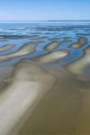 Sandbars at Low Tide at Thumpertown Beach on Cape Cod Bay, Cape Cod, Eastham, MA