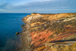 Colorful Clay Cliffs at Gay Head in Early Evening Light, Martha's Vineyard, Aquinnah, MA