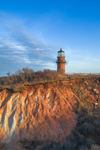 Gay Head Lighthouse and Gay Head Cliffs in Early Evening Light, Martha's Vineyard, Aquinnah, MA