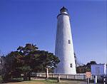Ocracoke Light under Clear Blue Sky, Ocracoke Island