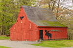 Red Barn with Moose Motif, Willington, CT