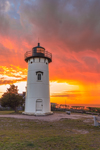 Spectacular Sunset at East Chop Lighthouse, Martha's Vineyard, Oak Bluffs, MA
