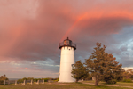 Spectacular Sunset at East Chop Lighthouse with Rainbow, Martha's Vineyard, Oak Bluffs, MA