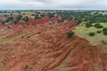 Red-Brown Shale on Buttes in Gloss (aka Glass) Mountains, near Fairview and Orienta, OK