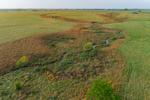 Small Creek Winding through Ranch Lands in Nowata County, near Nowata, OK