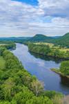 Connecticut River, Mount Sugarloaf and Pocumtuck Range in Summer, Sunderland, MA