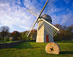Springtime at Jamestown Historical Society Windmill
