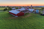 Sunrise over Farm near Seneca Lake, Finger Lakes Region near Randall Crossing, Town of Milo, NY