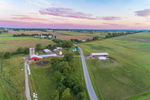 Sunrise over Farms and Fields near Seneca Lake, Finger Lakes Region near Randall Crossing, Town of Milo, NY
