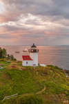 Curtis Island Lighthouse at Sunset, West Penobscot Bay at Entrance to Camden Harbor, Camden, ME