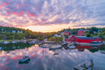 Colorful Sunset over Rockport Harbor, Rockport, ME