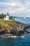 Curtis Island Lighthouse, West Penobscot Bay at Entrance to Camden Harbor, Camden, ME