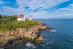 Curtis Island Lighthouse, West Penobscot Bay at Entrance to Camden Harbor, Camden, ME