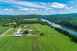 Farm and Fields along the Connecticut River, View from Claremont, NH