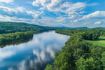 Connecticut River along Vermont/New Hampshire Border, View from Charlestown, NH
