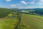 Great Meadow and Dickerson Brook along Connecticut River on Vermont/New Hampshire Border, View from Charlestown, NH