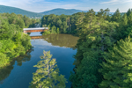 Edgell Covered Bridge (Built 1885) Spanning Clay Brook, Lyme, NH