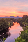 Sunset on the Connecticut River, View from Stratford, NH