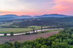 Israel River with White Mountains in Background at Sunrise, View from Lancaster, NH