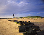 Brant Point Light with Stones from Old Breakwater