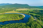 View of Connecticut River and Vermont Countryside from Maidstone, VT