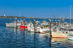 Commercial Fishing Boats at Dock in Provincetown Harbor, Cape Cod, Provincetown, MA