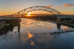 Sagamore Bridge at Sunset, Cape Cod Canal, Cape Cod, Bourne, MA