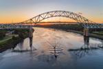 Sagamore Bridge at Sunset, Cape Cod Canal, Cape Cod, Bourne, MA