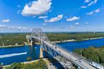 Bourne Bridge Spanning Cape Cod Canal, Cape Cod, Bourne, MA