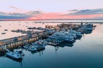 Sunrise over Fishing Boats at Dock in Provincetown Harbor, Cape Cod, Provincetown, MA