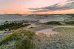 Sunrise over Dunes in Provincelands at Cape Cod National Seashore, Cape Cod, Provincetown, MA