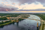 Sagamore Bridge at Sunrise, Cape Cod Canal, Cape Cod, Bourne, MA