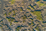 Abstract View of Salt Marshes and Mud Flats near Pamet Harbor, Cape Cod, Truro, MA