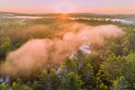 Sunrise through Early Morning Fog Overlooking Beaver Brook, Royalston, MA